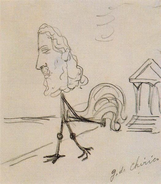 Jupiter at the sea, 1936 - Giorgio de Chirico