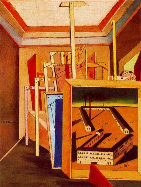 Metaphysical Interior of studio, 1948 - Giorgio de Chirico