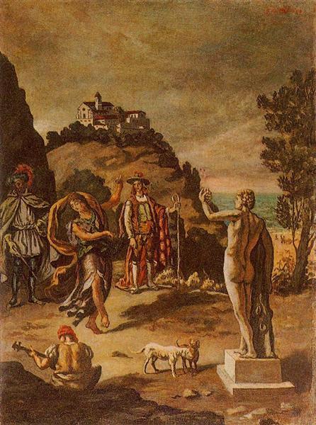 Rural scenes with landscape - Giorgio de Chirico