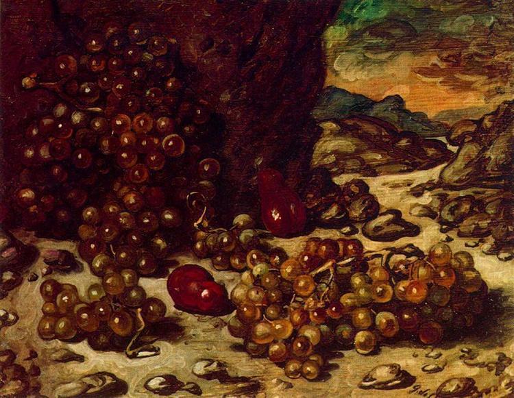 Still Life with rocky landscape, 1942 - Giorgio de Chirico