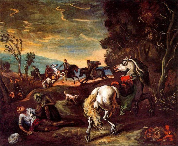 The horse has gone, 1939 - Giorgio de Chirico