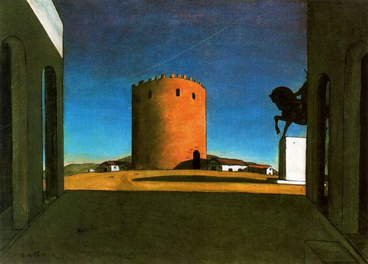 The Red Tower, 1913 - Giorgio de Chirico