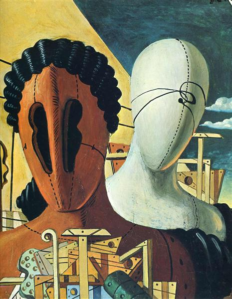 The Two Masks, 1926 - Giorgio de Chirico