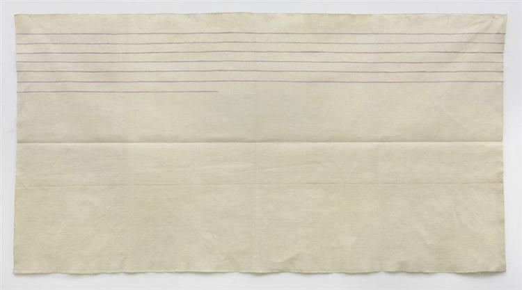 Linee orizzontali, 1973 - Giorgio Griffa