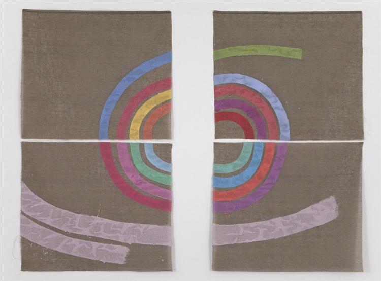 Quasi una spirale - Giorgio Griffa