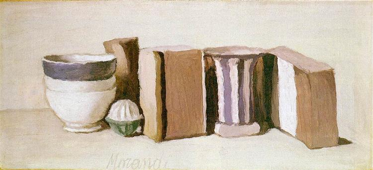 Still Life (Cups and Boxes), 1951 - Giorgio Morandi