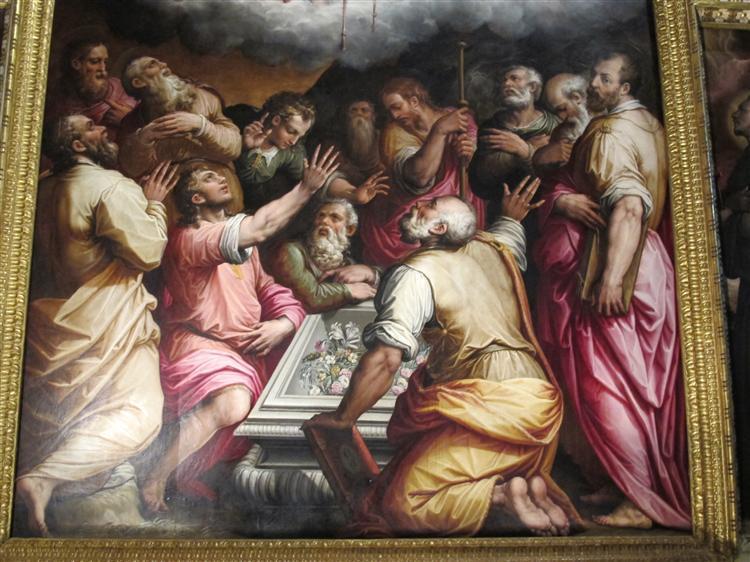Assumption of the Virgin (detail), 1567 - Giorgio Vasari
