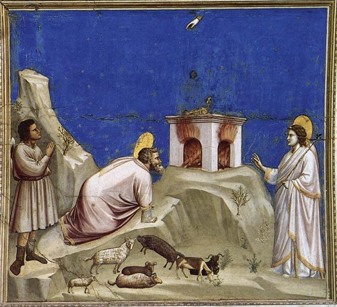Joachim's Sacrificial Offering, c.1304 - c.1306 - Giotto