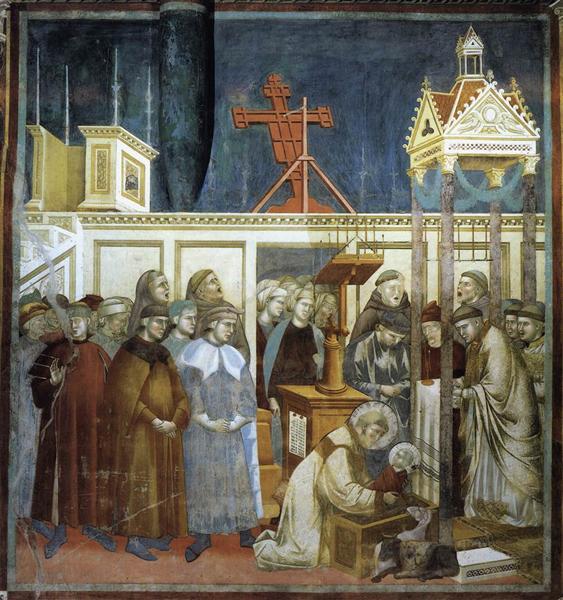 St. Francis of Assisi Preparing the Christmas Crib at Grecchio, 1297 - 1300 - Giotto