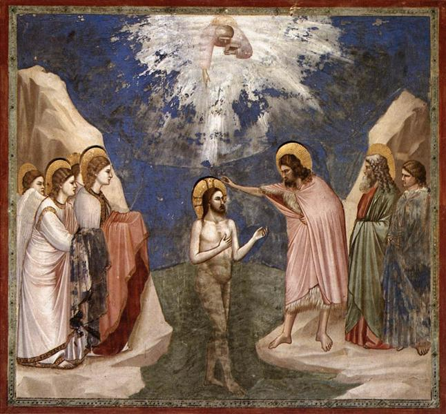 The Baptism of Christ, c.1305 - Giotto