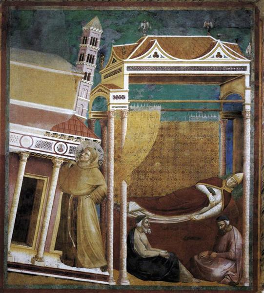 The Dream of Innocent III, 1297 - 1299 - Giotto