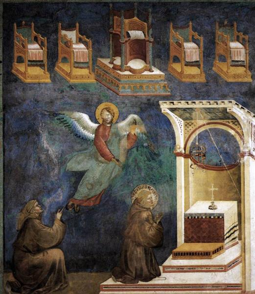 The Vision of the Thrones, 1297 - 1299 - Giotto