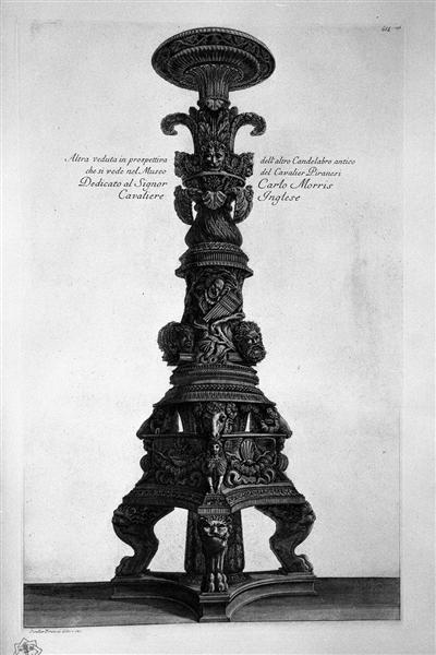 Another view in perspective of the previous candlestick, 1778 - Джованни Баттиста Пиранези