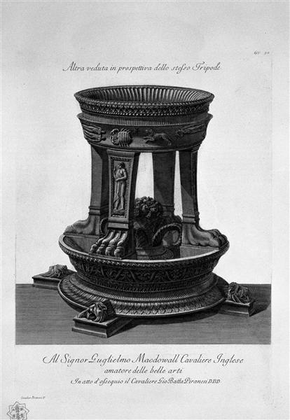 Another view in perspective of the same Tripod, 1778 - Giovanni Battista Piranesi