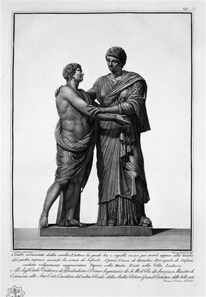 Orestes and Electra - Giovanni Battista Piranesi