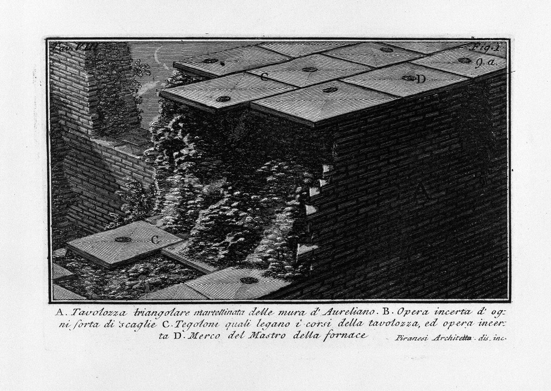 The Roman antiquities, t. 1, Plate VIII. Aurelian Walls., 1756