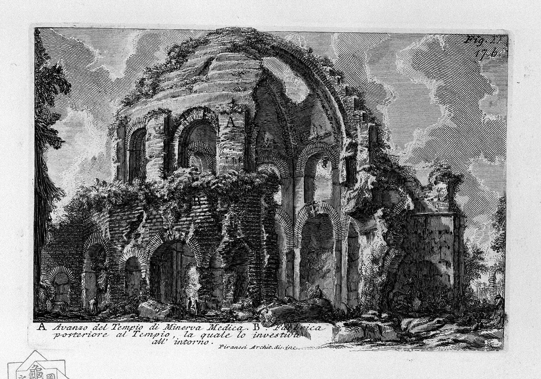 The Roman antiquities, t. 1, Plate XVI. Temple of Minerva Medica., 1756