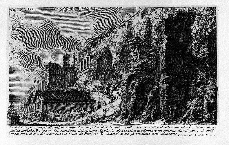 The Roman antiquities, t. 1, Plate XXIII. Aventine Hill., 1756