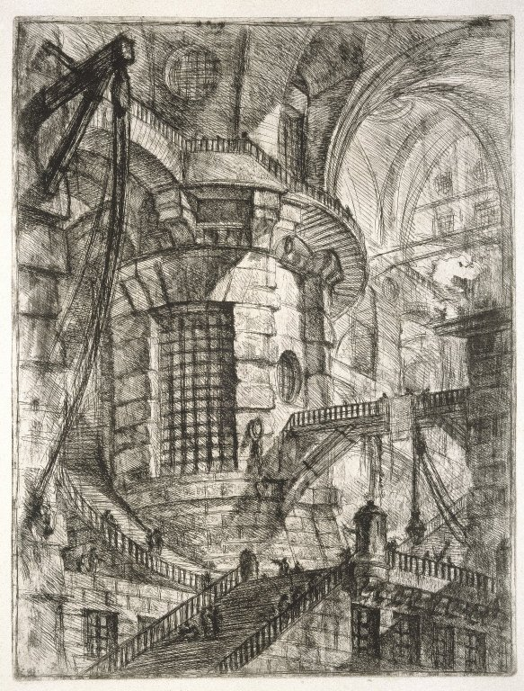 Image result for Piranesi The Round Tower Plate 3 of Carceri