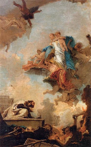 Apparition of the Virgin to St Simon Stock, 1746 - 1749 - Giovanni Battista Tiepolo