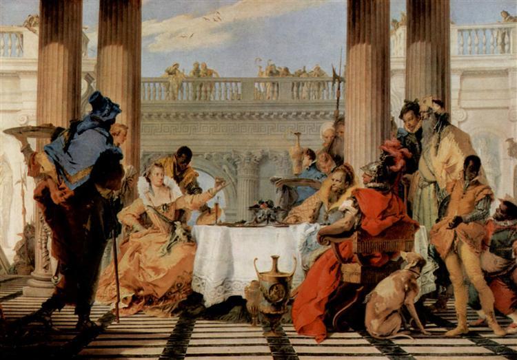 The Banquet of Cleopatra, 1743 - 1744 - Giovanni Battista Tiepolo