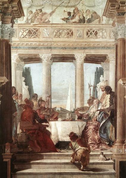 The Banquet of Cleopatra, 1746 - 1747 - Giovanni Battista Tiepolo