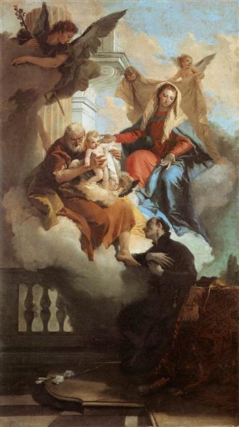 The Holy Family Appearing in a Vision to St Gaetano, 1735 - 1736 - Giovanni Battista Tiepolo
