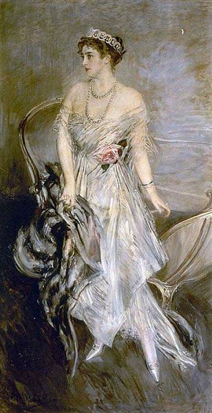 Mrs. Leeds, the later Princess Anastasia of Greece (and Denmark), 1914 - Giovanni Boldini