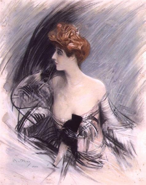 Portrait of Sarah Bernhardt - Giovanni Boldini