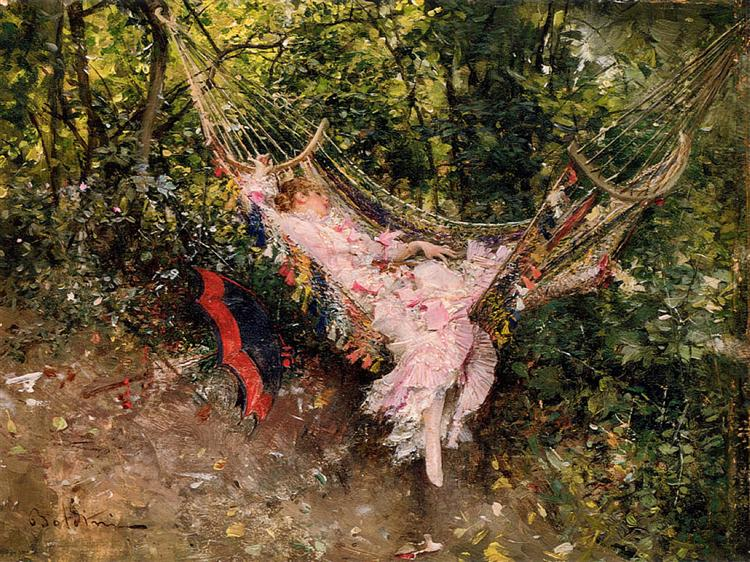 The Hammock, c.1872 - c.1874 - Giovanni Boldini
