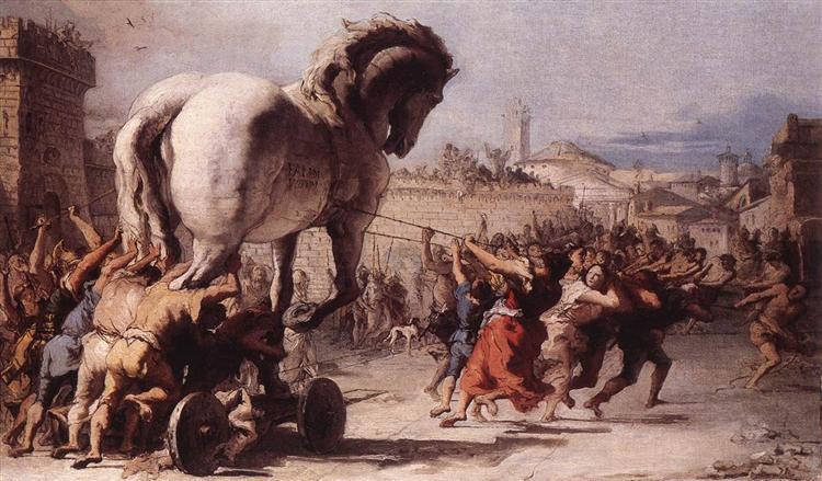 The Procession of the Trojan Horse in Troy, 1773 - Giovanni Domenico Tiepolo