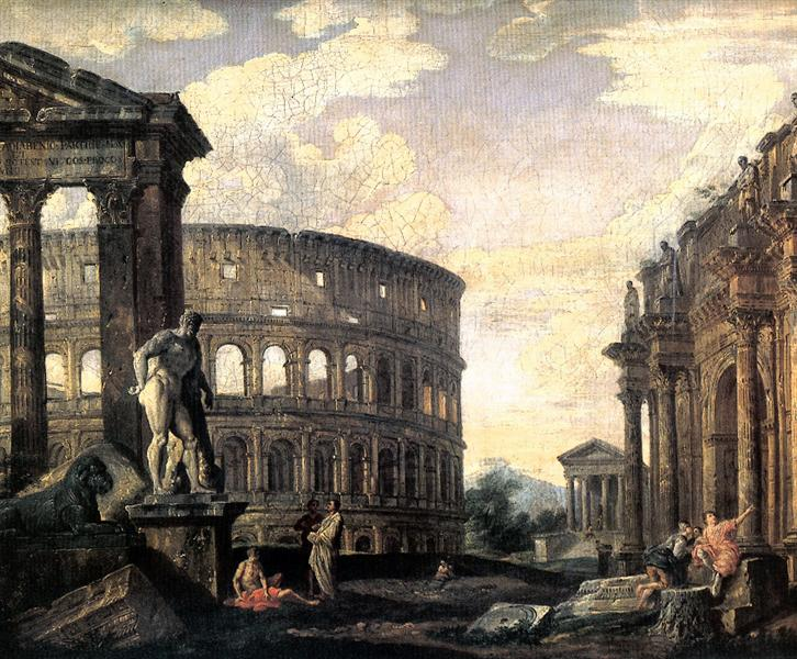 Ancient Roman Ruins, 1750 - Giovanni Paolo Panini