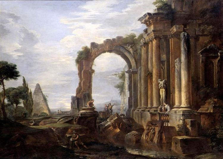 Capriccio of Classical Ruins, 1730 - Giovanni Paolo Panini