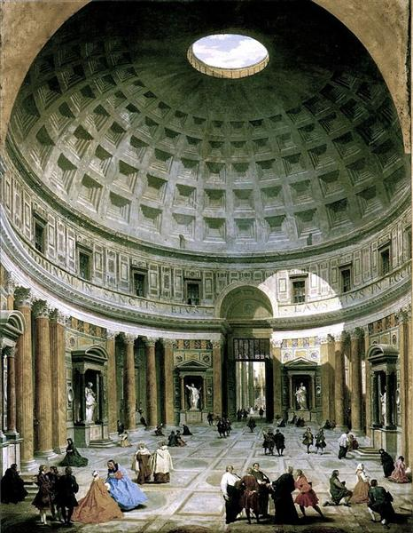 The interior of the Pantheon (Rome), 1734 - Giovanni Paolo Panini