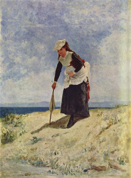 Woman on the Beach - Giuseppe De Nittis