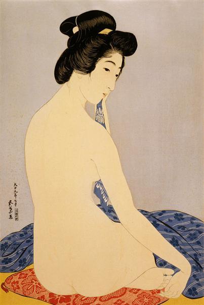Woman After Bath, 1920 - Goyo Hashiguchi