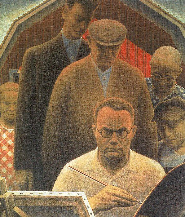 Return From Bohemia 1935 Grant Wood Wikiart Org