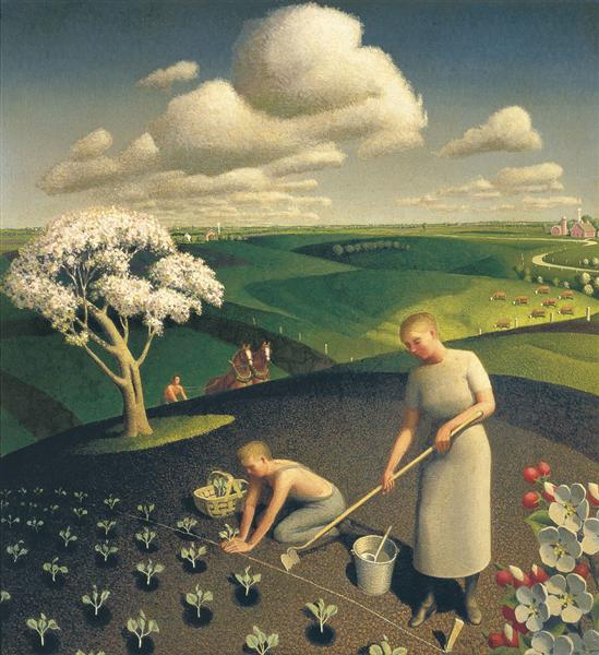 Spring in the Country, 1941 - Grant Wood