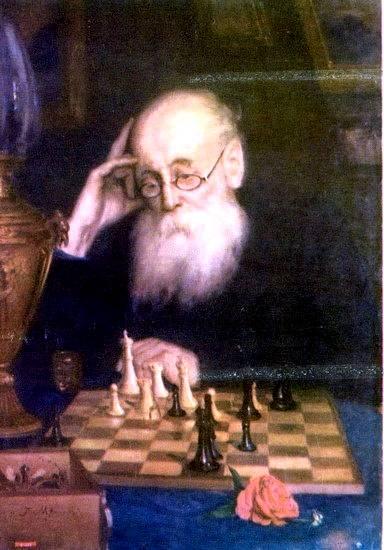 Портрет шахматиста А.Д. Петрова - Григорий Мясоедов