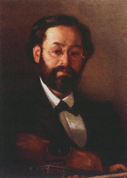Portrait of fiddler V. G. Walter, 1902 - Grigoriy Myasoyedov