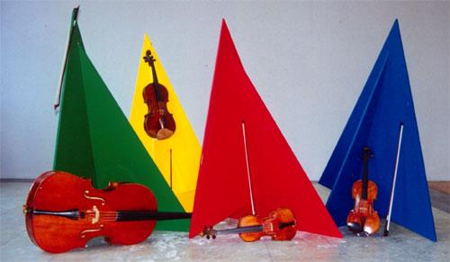 Sculptures created for R.M. Schafer's Seventh String Quartet - Guido Molinari
