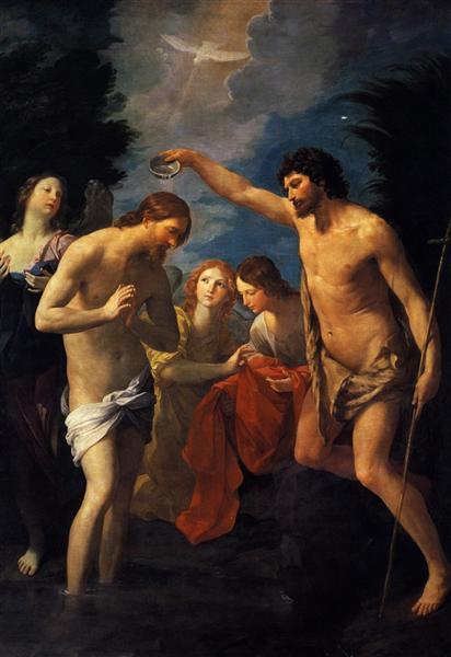 El bautismo de Cristo - Reni Guido