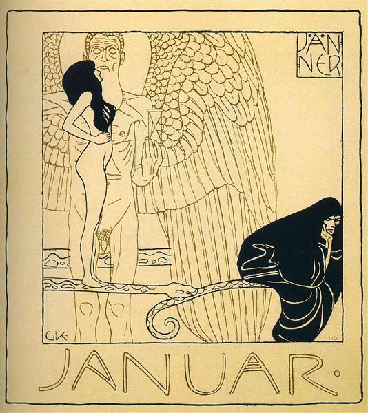 Januar, 1901 - Gustav Klimt