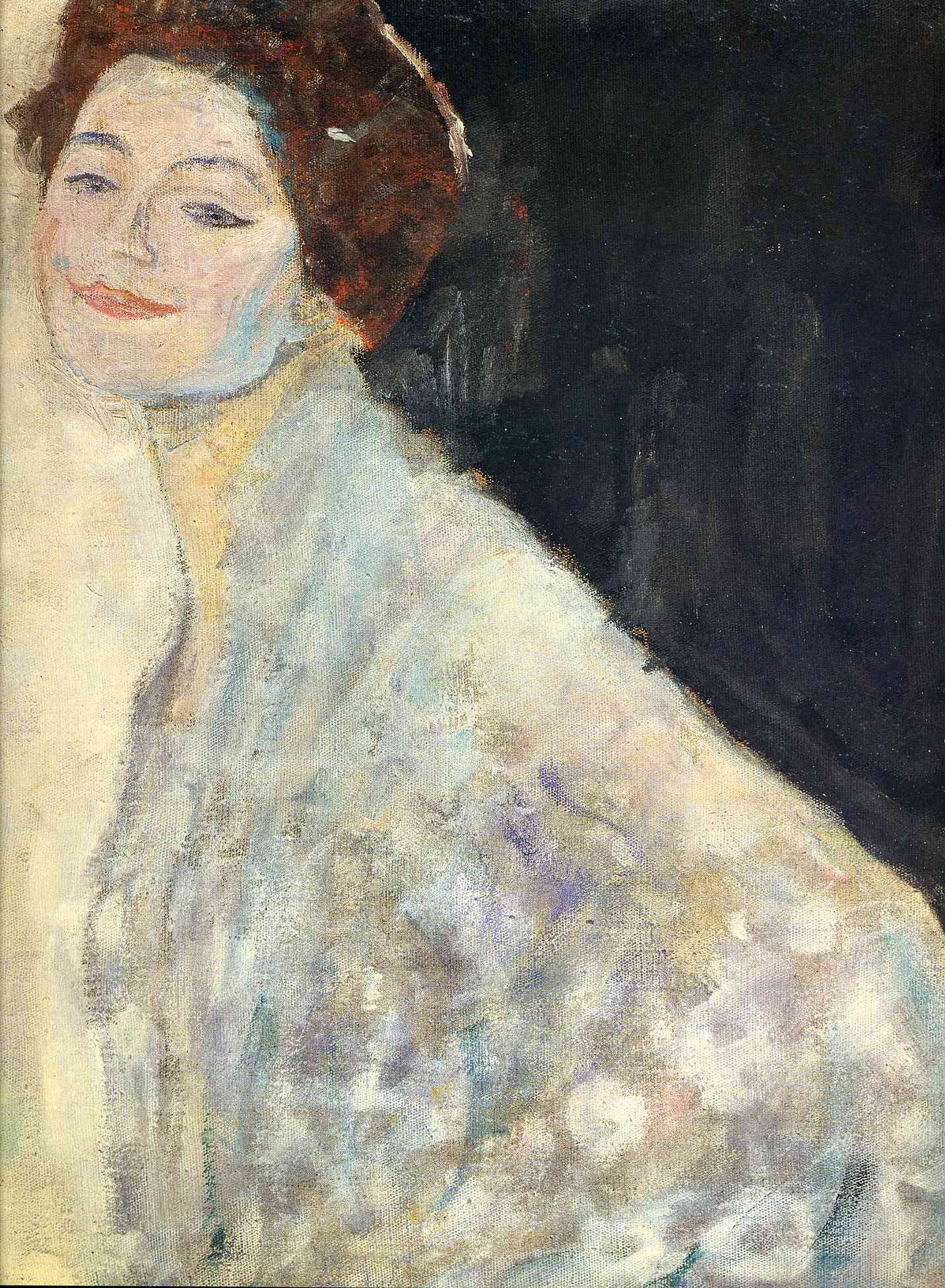Portrait of a Lady in White (unfinished), 1917-1918