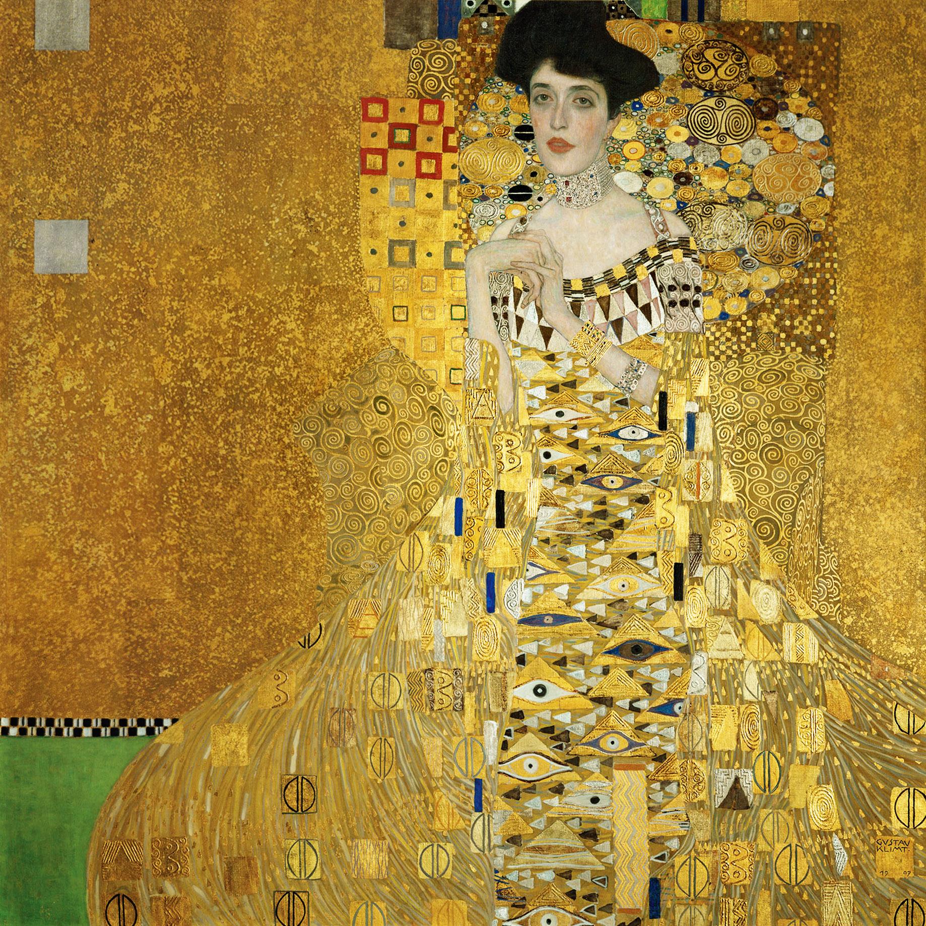 Αποτέλεσμα εικόνας για Portrait of Adele Bloch-Bauer I by Gustav Klimt