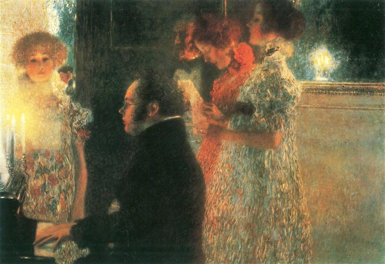 Schubert at the Piano II, 1899 - Gustav Klimt