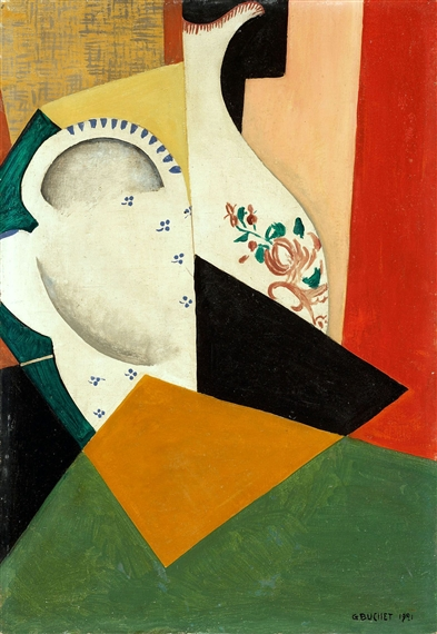 Composition with a Vase from Vieux-Strasbourg - Gustave Buchet