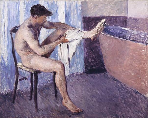 Man drying his leg, 1884