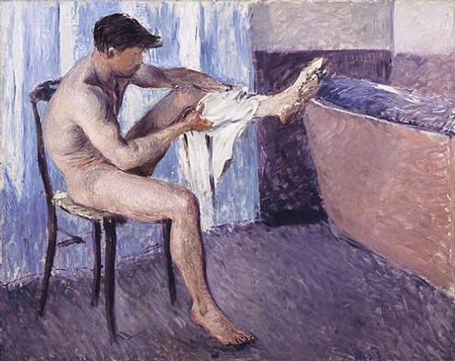 Man drying his leg - Gustave Caillebotte