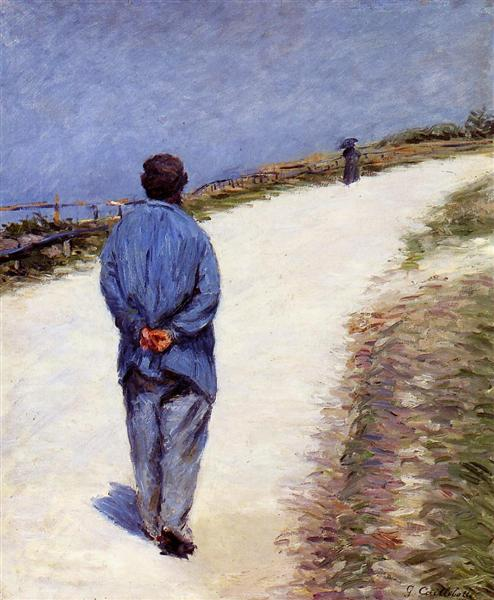 Pere Magloire on the Road to Saint-Clair, Etretat, 1884 - Gustave Caillebotte
